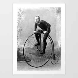Velocipede racer Art Print