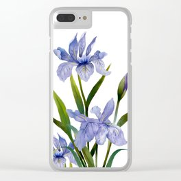 Purple Iris Clear iPhone Case