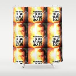 Bashar Assad Is Evil Shower Curtain