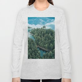 Mountain in a Lake - Landscape Photography Long Sleeve T-shirt