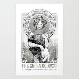 The Green Goddess Art Print