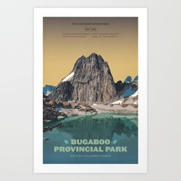 Bugaboo Provincial Park Art Print