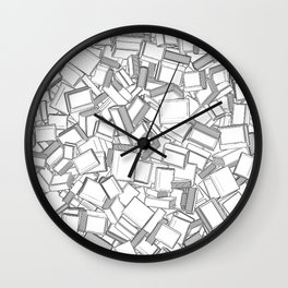 The Book Pile II Wall Clock