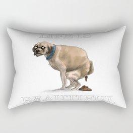 Life Is Beautiful: Man's Best Friend Rectangular Pillow