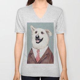 Happy Labrador Retriever Unisex V-Neck