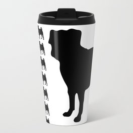 Simple Pug Silhouette Travel Mug