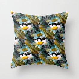 Shasta Daisy Abstract 2 Throw Pillow
