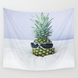 Pineapple With Sunglasses Wall Tapestry