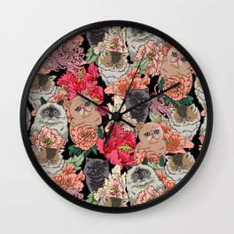Because Cats Wall Clock