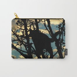 Shadow Cat and Bird Carry-All Pouch