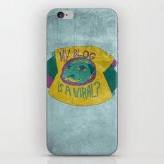 MAKE IT GO VIRUS iPhone & iPod Skin
