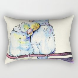 Love birds (2) Rectangular Pillow