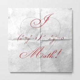 I Heart Math! Metal Print