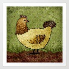 Bobba the Hen Art Print