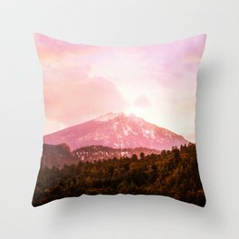 Sunrise in the Rockys Throw Pillow