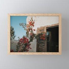 Spring Flowers at Terre des Etoiles Morocco Agafay Desert | photo print Framed Mini Art Print