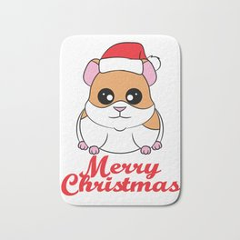 Fan of Guinea Pig and Christmas? Have them both with this cute and adorable tee!  Bath Mat