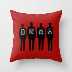 Tim, Damian, Dan & Andy Throw Pillow