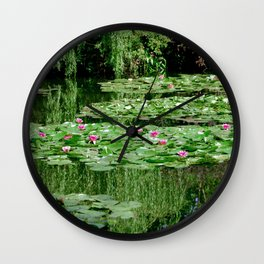 Monet's Lilies Wall Clock
