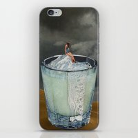 drink iPhone & iPod Skins featuring DRINK by Beth Hoeckel