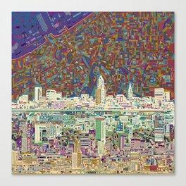 cleveland city skyline Canvas Print