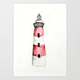 Charleston Lighthouse Art Print