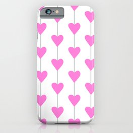 Pink Full Heart Strings iPhone Case