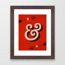 AmerType Md Bold Ampersand Framed Art Print