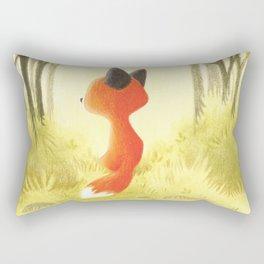 Little red fox Rectangular Pillow