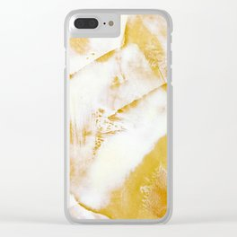 Abstraction marble texture Clear iPhone Case