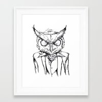 hotline miami Framed Art Prints featuring Hotline Miami by Leamartes