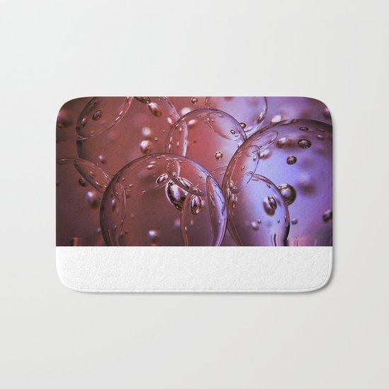 Red Glass Bubbles Bath Mat