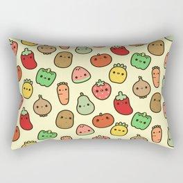 Cute fruit and veg Rectangular Pillow