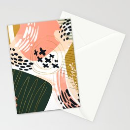 Brushstrokes abstract art III Stationery Cards