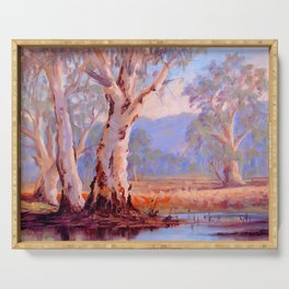 Ovens River Gum Trees Serving Tray