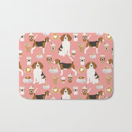 Beagle coffee dog breed gifts pupuccino dog lover beagles pure breed Bath Mat