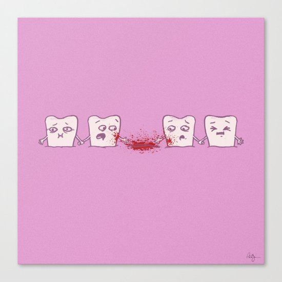 Red Rover, Game Over Canvas Print