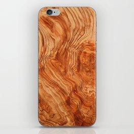 Wood case iPhone Skin