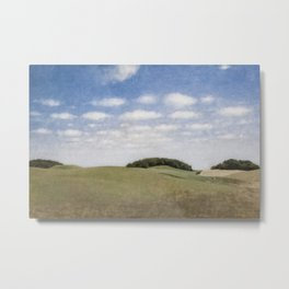 Rolling Hills, Tuscany, Italy landscape painting by Vilhelm Hammershoi Metal Print
