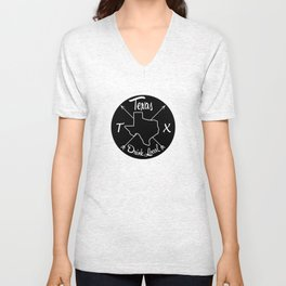 Texas Drink Local TX Unisex V-Neck