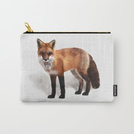 Watercolour red fox wildlife painting illustration Carry-All Pouch