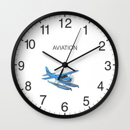 Civil Single-engined High Wing Seaplane Wall Clock