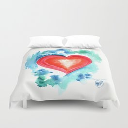 Big Heart Duvet Cover