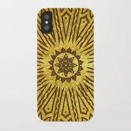 ozorahmi copper mandala iPhone Case