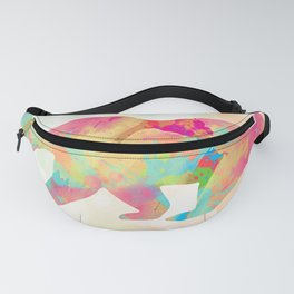 Abstract Bear Fanny Pack