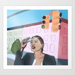 Progressive Hero Art Print