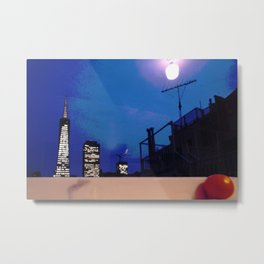 Transamerica Pyramid from a Telegraph Hill Windowsill Metal Print
