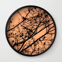 Sunset silhouettes Wall Clock