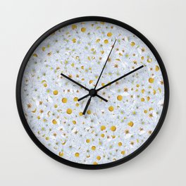 Shower of Daisies Wall Clock
