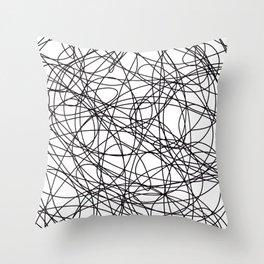 Abstract Art Scribbles Throw Pillow